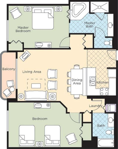 daytona suites 2 bedroom walk resort floorplans