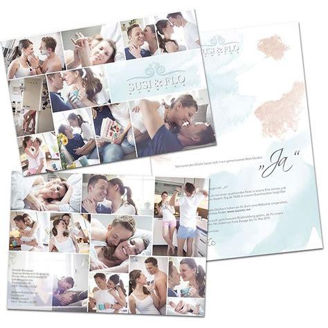 Hochzeitseinladung Collage by Hochzeitseinladung Mal Anders Fotostudio Fotozon Ihr