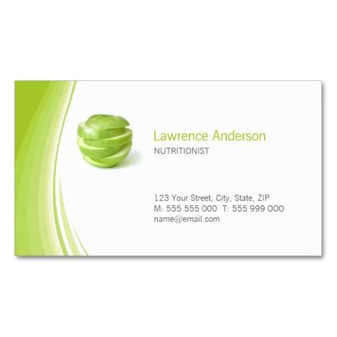 nutritionist business card templates dietitian nutritionist business card nutritionist