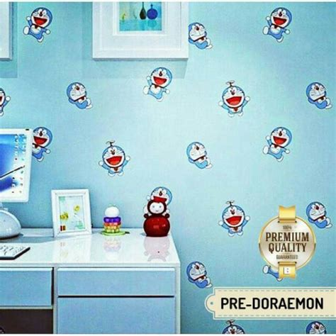 Doraemon Biru wallpaper doraemon sticker dinding doraemon biru shopee
