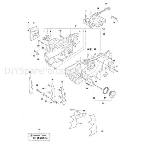 husqvarna chainsaw diagram husqvarna 365sp chainsaw 2011 parts diagram crankcase