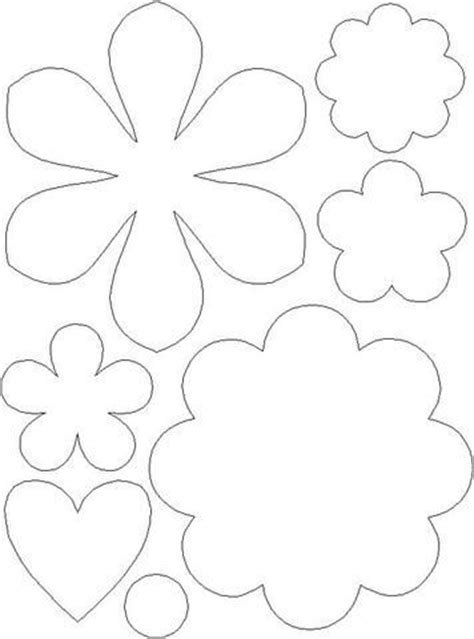 felt flower templates crafty pinterest