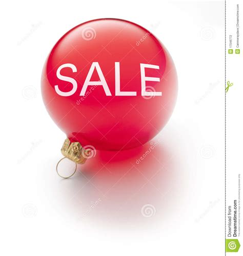 christmas sale ornament stock photography image 17046772