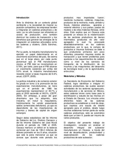 cadenas productivas de mexico cadenas productivas de manufactura en oaxaca