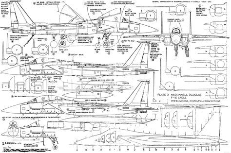 F Drawings Blueprints by Flightgear Forum View Topic F15 Model Upate