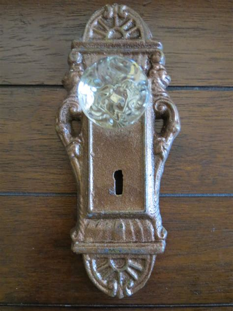 Decorative Picture Hanger Knobs by Wall Hook Shabby Chic Hook Door Knob Decor Aged Copper Or