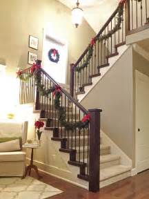 Garland For Stair Banister A Whole Bunch Of Christmas Staircase Decorating Ideas