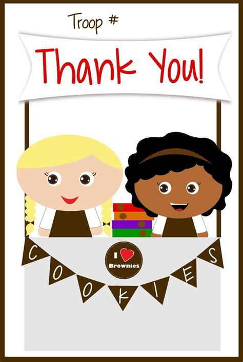 Boy Scout Thank You Card Template by Scouts Free Printable Brownies Thank You Cards