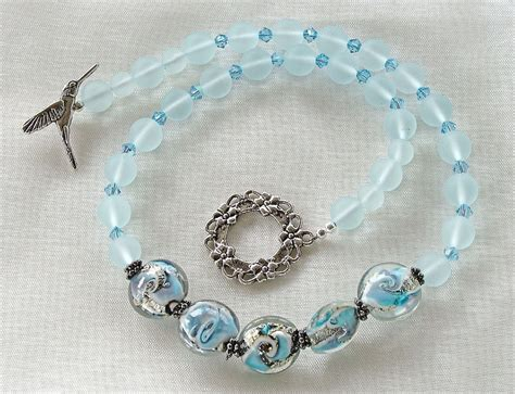 sea bead necklace edgewater 17 quot handcrafted sea glass bead necklace