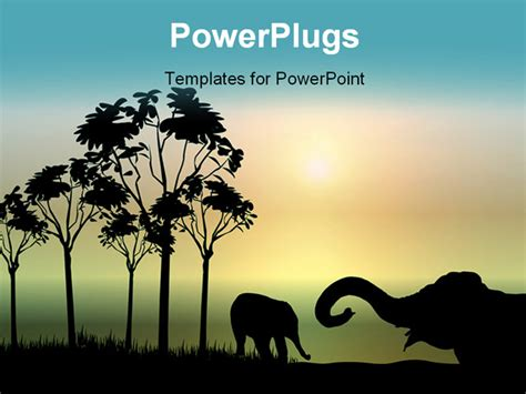 Elephant Powerpoint Template Africa Powerpoint Template