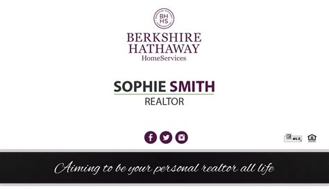 Berkshire Hathaway Business Cards