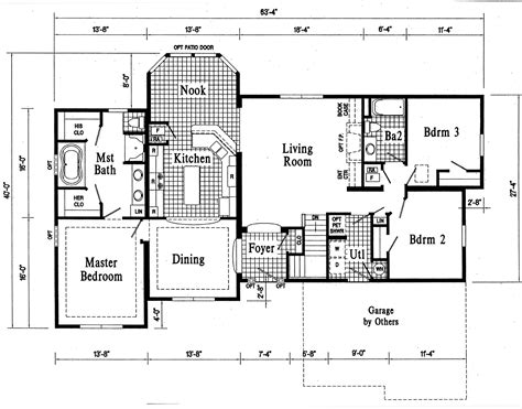 large modern florida style ranch house plans exterior