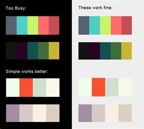 two color combinations the dos and don ts of dark web design webdesigner depot