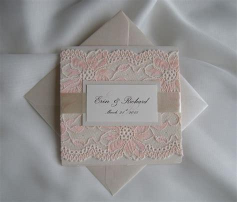 Wedding Invita by Wedding Invitation Lace Wedding Invitation Blush Lace