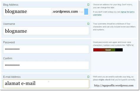 cara membuat website lewat wordpress cara membuat blog lewat wordpress com ngeposfiles
