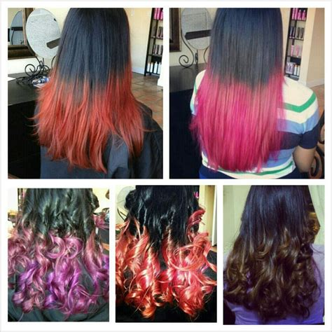 hairstyles different colours different hair color ombre and hair dip dye yelp
