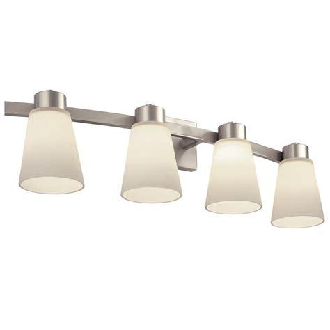 lighting a match in the bathroom shop portfolio 4 light brushed nickel bathroom vanity