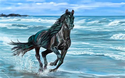 wallpaper blue horse horse beautiful background great picture wallpaper