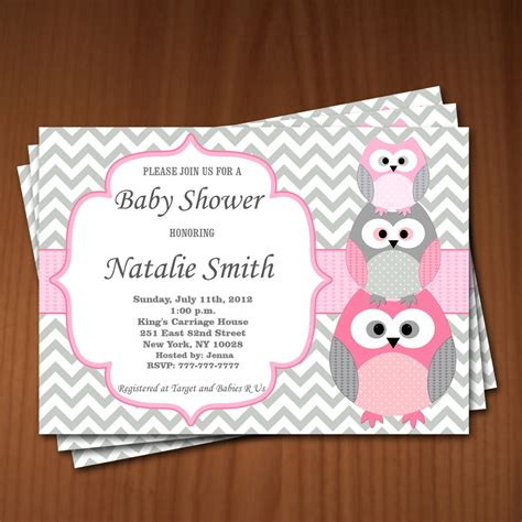 Baby Shower Owl Invitations by Owl Baby Shower Invitation Baby Shower Invitations