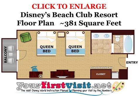 beach club villas floor plan accommodations and theming at disney s beach club resort