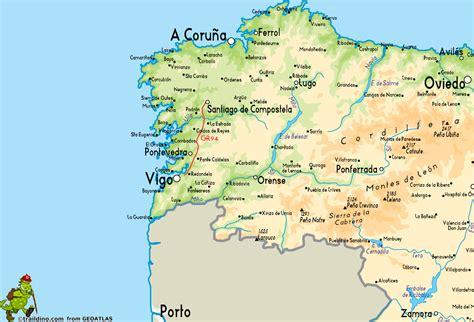 Galicia Spain Map by Gr94 Sendero Rural De Galicia