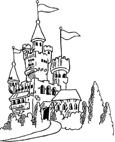 disney princess castle coloring pages to kids