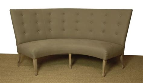 curved dining banquette carolina armless curved banquette duh home pinterest