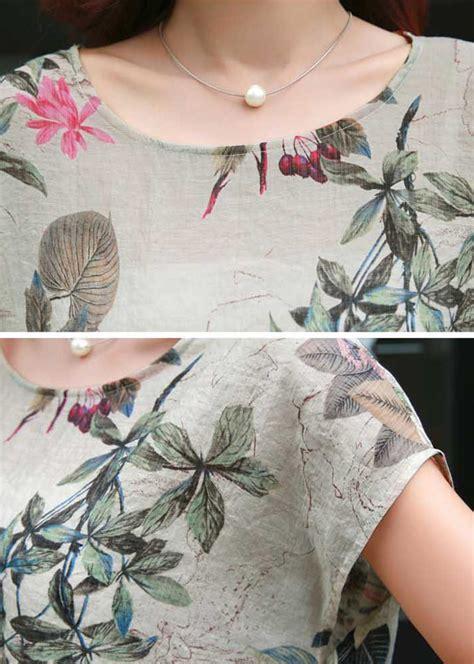 Blouse Bunga Pendek blus atasan wanita import lengan pendek motif bunga b2812