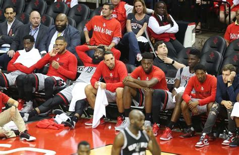 rockets bench shorthanded spurs annihilate rockets in game 6 houston