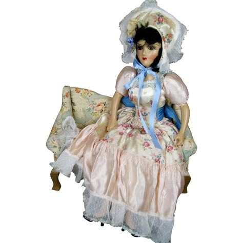 bed dolls vintage 1940s forever amber boudoir doll bed doll from