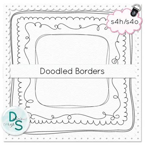 free doodle borders free commercial use doodle borders delicious scraps