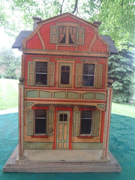 nice doll houses gottschalk blue roof doll house two room german nice