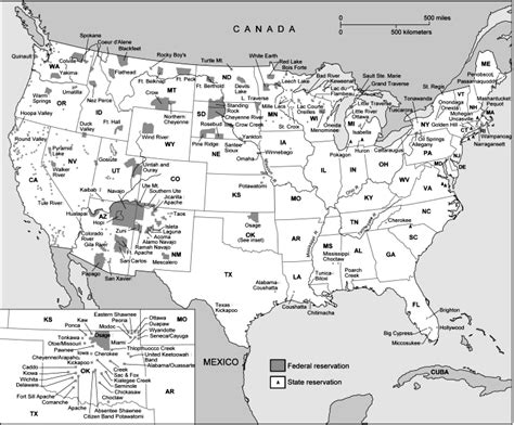 indian reservations usa map u s federal and state indian reservations