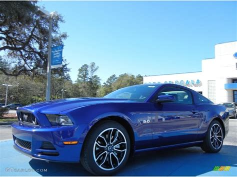 2014 mustang gt impact blue 2014 impact blue ford mustang gt premium coupe