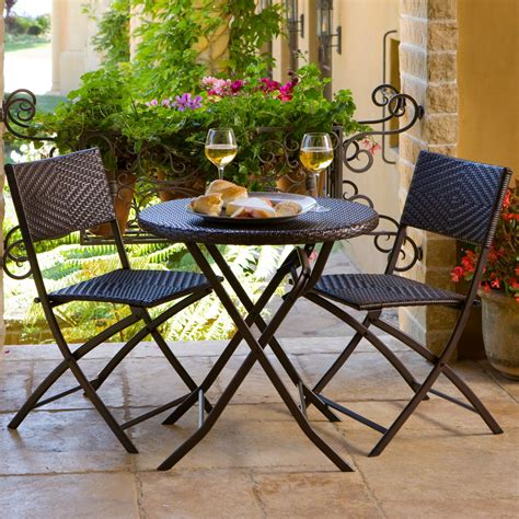 Best Patio Lawn Garden Rst Outdoor 3 Piece Bistro Balcony Bistro Set Patio Furniture
