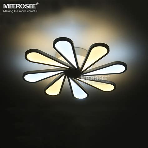 Modern Led Light Fixtures Impressive Bright Ceiling Light Fixtures Modern Led Ceiling Light 8 Lights Led White Acrylic