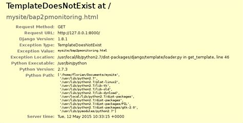 django tutorial templatedoesnotexist python templates django does not exist at stack