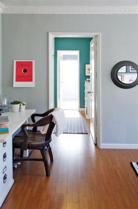 living room color is half moon crest from benjamin and the hallway color is lost atlantis