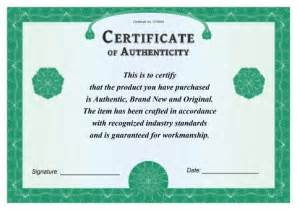 how to create a certificate template certificate of authenticity template how to create a