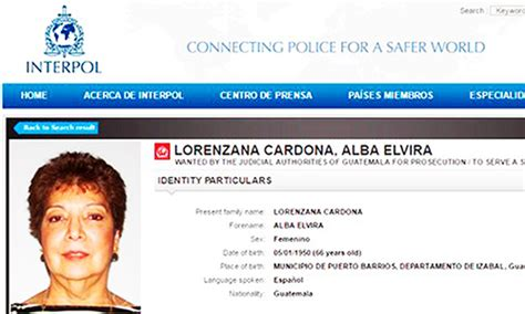 Interpol Warrant Search Interpol Issues Warrant For Prominent Guatemala Businesswoman