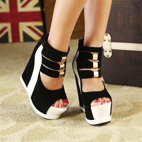 womens high heel wedges club ultra high heel pumps platform wedge