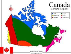 Canada Climate Map by Canadainfo Geography Amp Maps Maps Climate