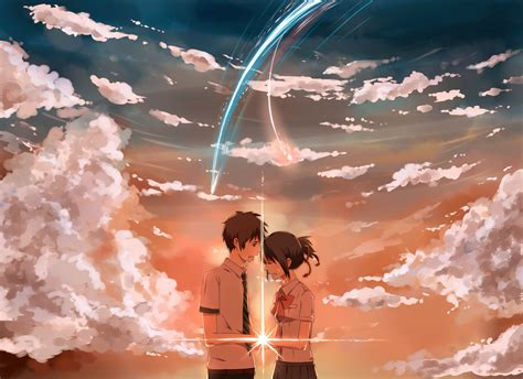 couple wallpaper with name kimi no nawa kimi no nawa your name pinterest anime