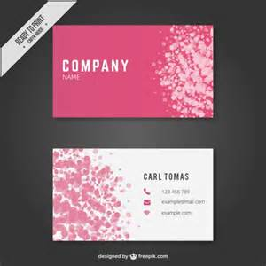 abstract business card template vector free
