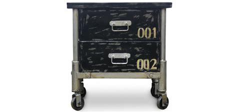Table De Chevet 525 by Grange Co Industrial Vintage Schwarz Nachttisch Eisen
