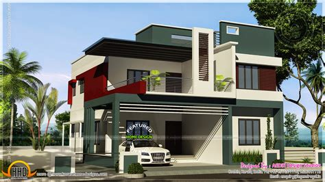 contemporary duplex house plans duplex house contemporary style kerala home design and floor plans