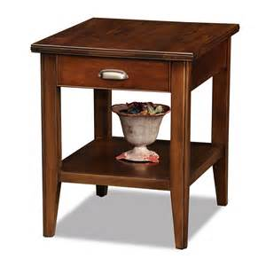 leick 10507 laurent storage end table with drawer atg stores