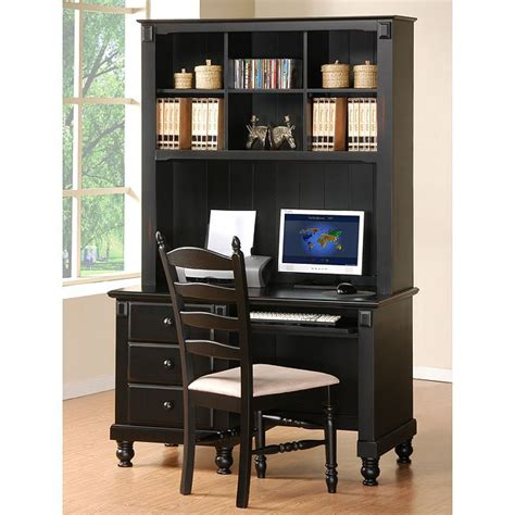 black desk with hutch pottery writing desk with hutch black homelegance