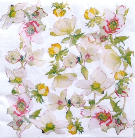 Decoupage Napkins Buy - 5pcs napkin for decoupage delicate sakkura shop