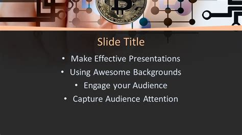 Free Bitcoin Cryptocurrency Powerpoint Template Free Powerpoint Templates Bitcoin Powerpoint Template